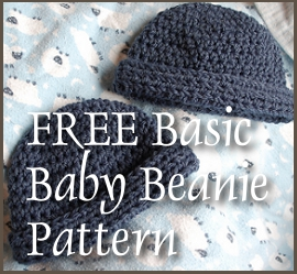 FREE basic baby beanie crochet pattern