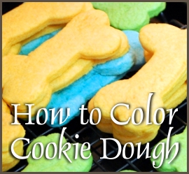 how to color cookie dough