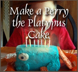 how to make a perry the platypus cake