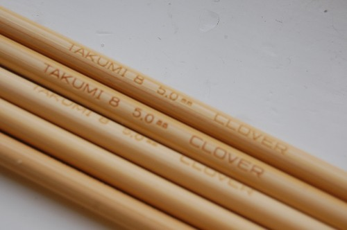 clover takumi bamboo double pointed needles