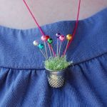 Thimble Pincushion Necklace  all pattern