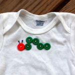 Button-Embellished Onesie  all pattern