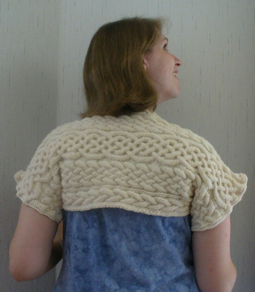 Gratuitous Cables Shrug by Melissa Mall