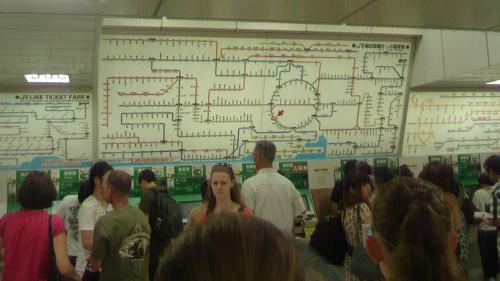 Railway maps in Tokyo!