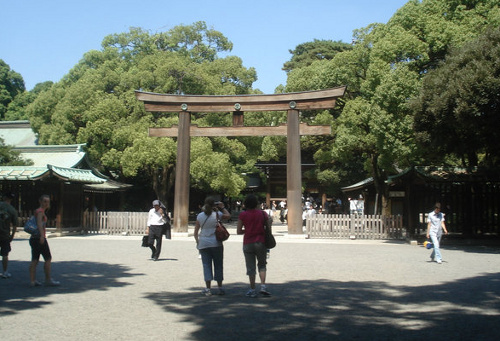 Torii Gate entrance to the Meiji forest