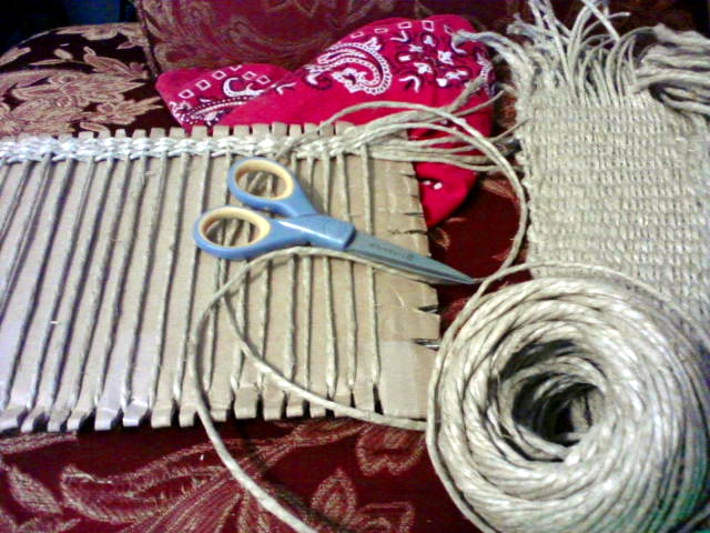 Cardboard Weaving from BonBonanza