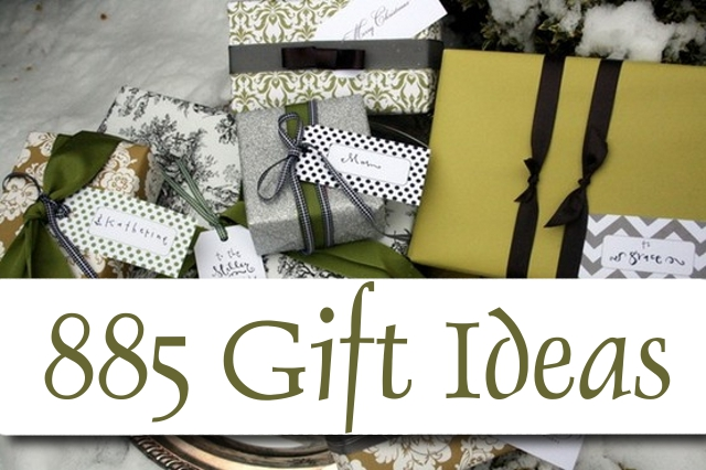 885 Gift Ideas - Inexpensive Gifts to Make or Buy