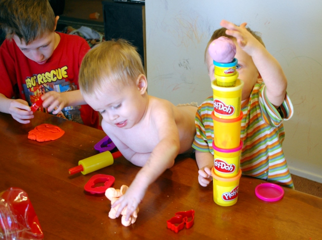 See? Play-doh elephant. Circus play-doh.