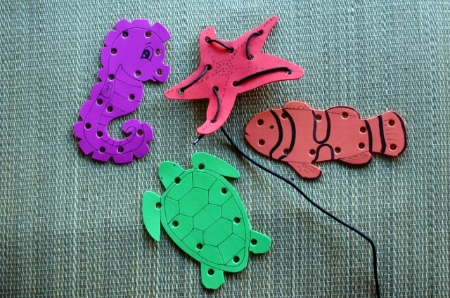 Homemade lacing shapes! To be sure.