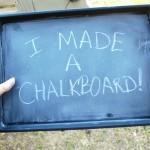 It's a chalkboard!