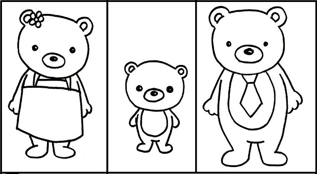 the three bears coloring pages - photo#10