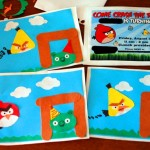 Homemade Angry Birds Invitations