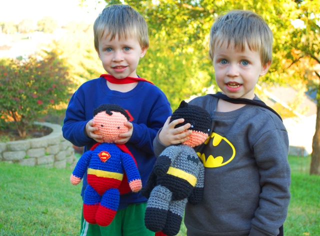 Batman and Superman: too darn cute.
