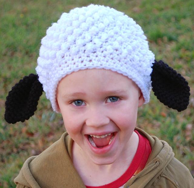 Baa, baa, sheep hat, have you any wool? (Nope. Acrylic.)