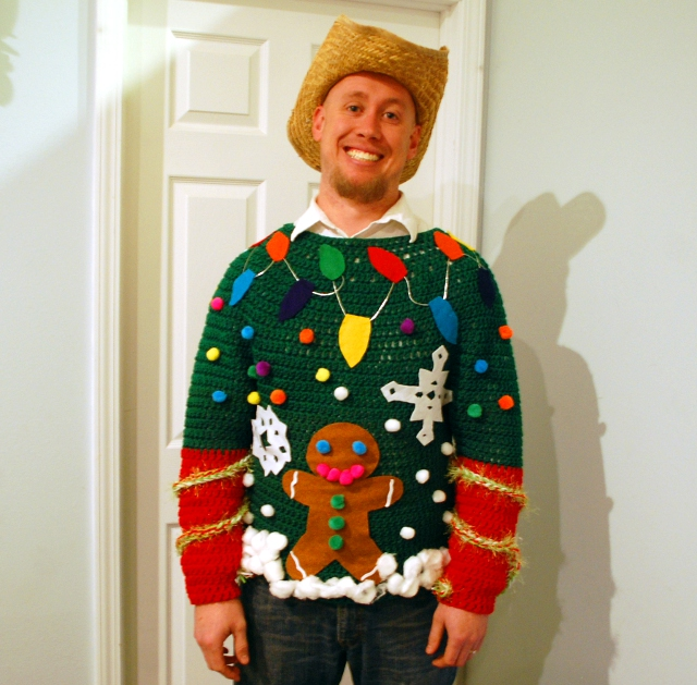 See? You can't call a sweater this jolly ugly.