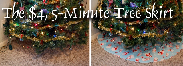 How to Make a 4 Dollar, 5 Minute Tree Skirt