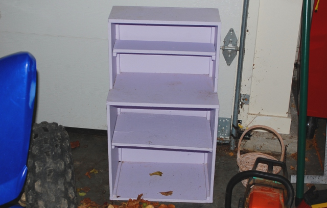 Before: little old lavender bookcase.
