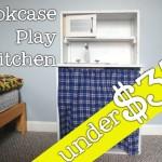 DIY Bookcase Play Kitchen for under $35