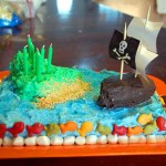 How to Make an Easy, Awesome Pirate Cake (with supplies from the kitchen!)