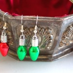 Make it in Minutes - Christmas Light Earrings