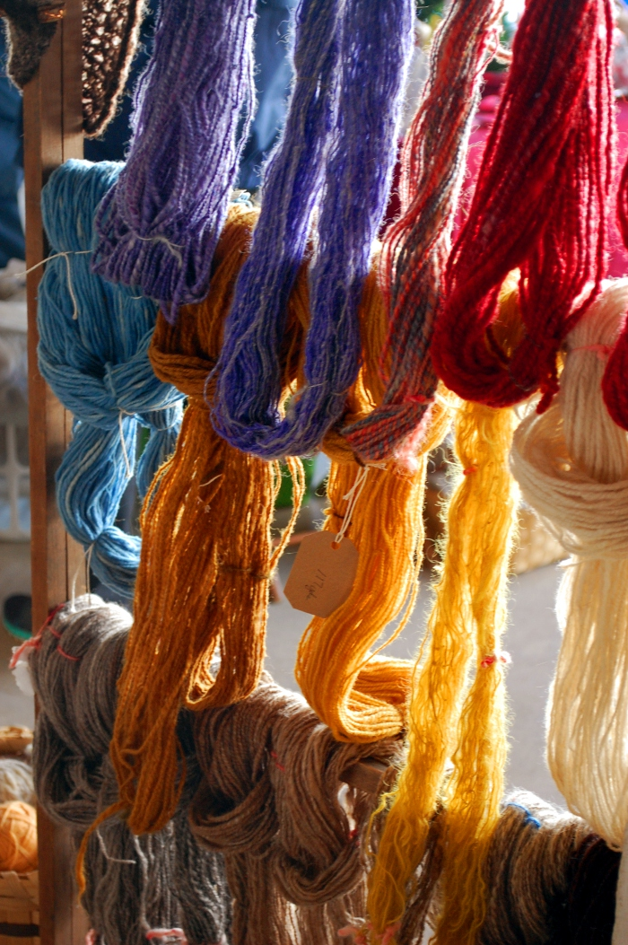 Sunlight in the yarn.