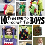 10 Free Bags to Crochet for Boys