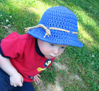 Itty Bitty Beach Bum Hat from Just Down Lemon Lane