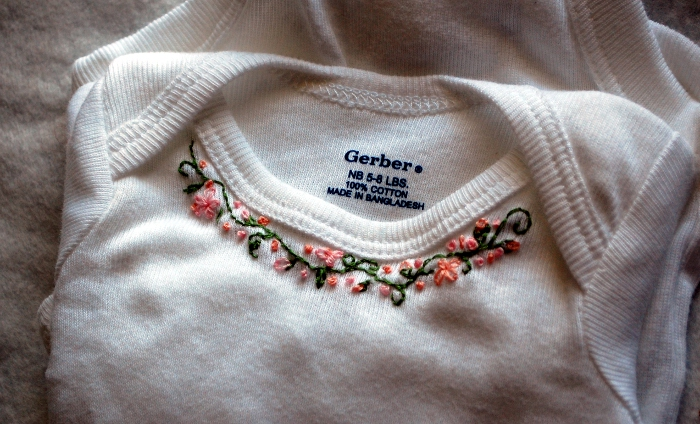 Simple Embroidered Onesie