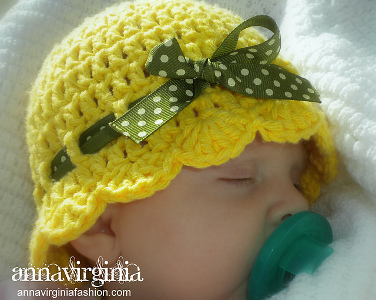 Baby Flapper-Girl Hat from Anna Virginia Fashion