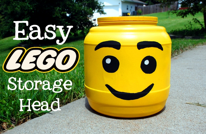 DIY Easy Lego Head Container
