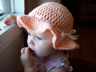 Peach Happy Sun Hat from Stitch11