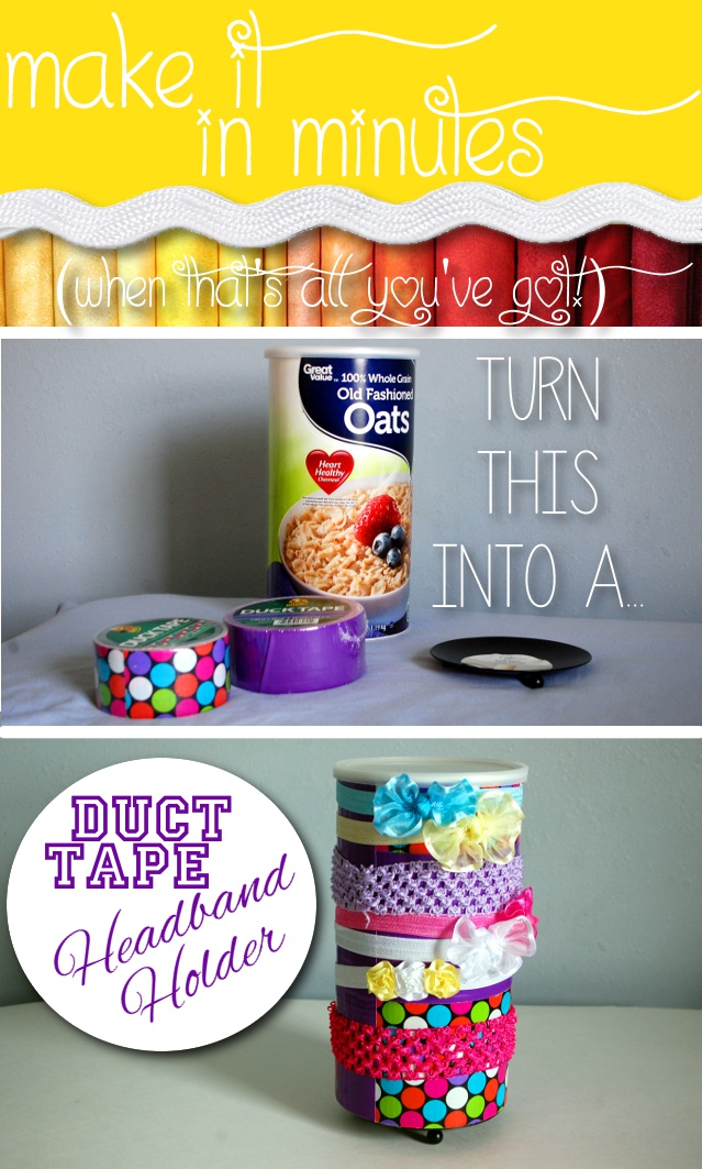 Make it in Minutes - Duct Tape Headband Holder