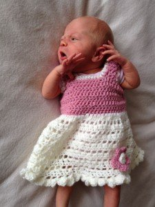 Frilly Little Newborn's Dress from Encrafted