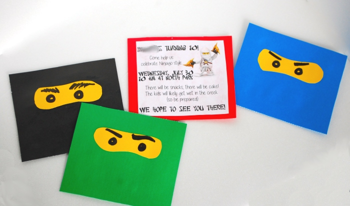 Easy Ninjago Party Invitations