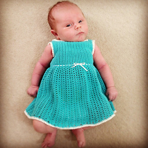 Infant's Petticoat Dress via Ravelry