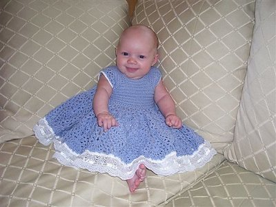 Baby Pineapple Party Dress from Ravelry