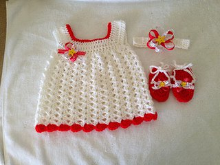 Easy Baby Sundress from Ravelry