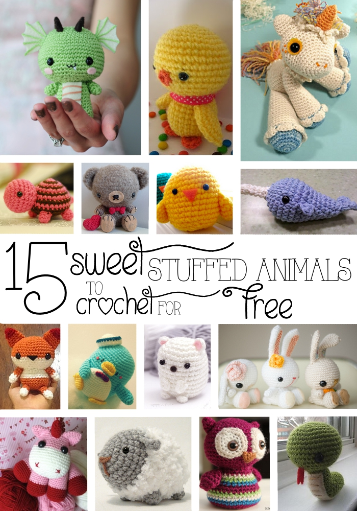 15 Sweet Stuffed Animals to Crochet for Free