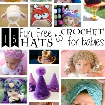 15 Fun, Free Hats to Crochet for Babies
