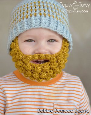 Bobble Bearded Beanie from I'm Topsy Turvy