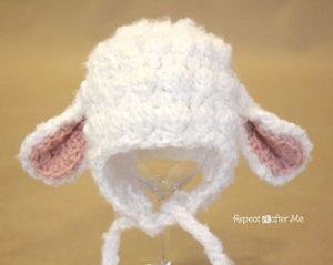 Lamb Hat from Repeat Crafter Me