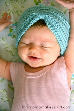 Baby Turban by Carrie from This Mama Makes Stuff