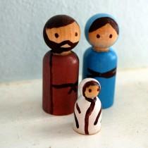 DIY Simple Peg Nativity