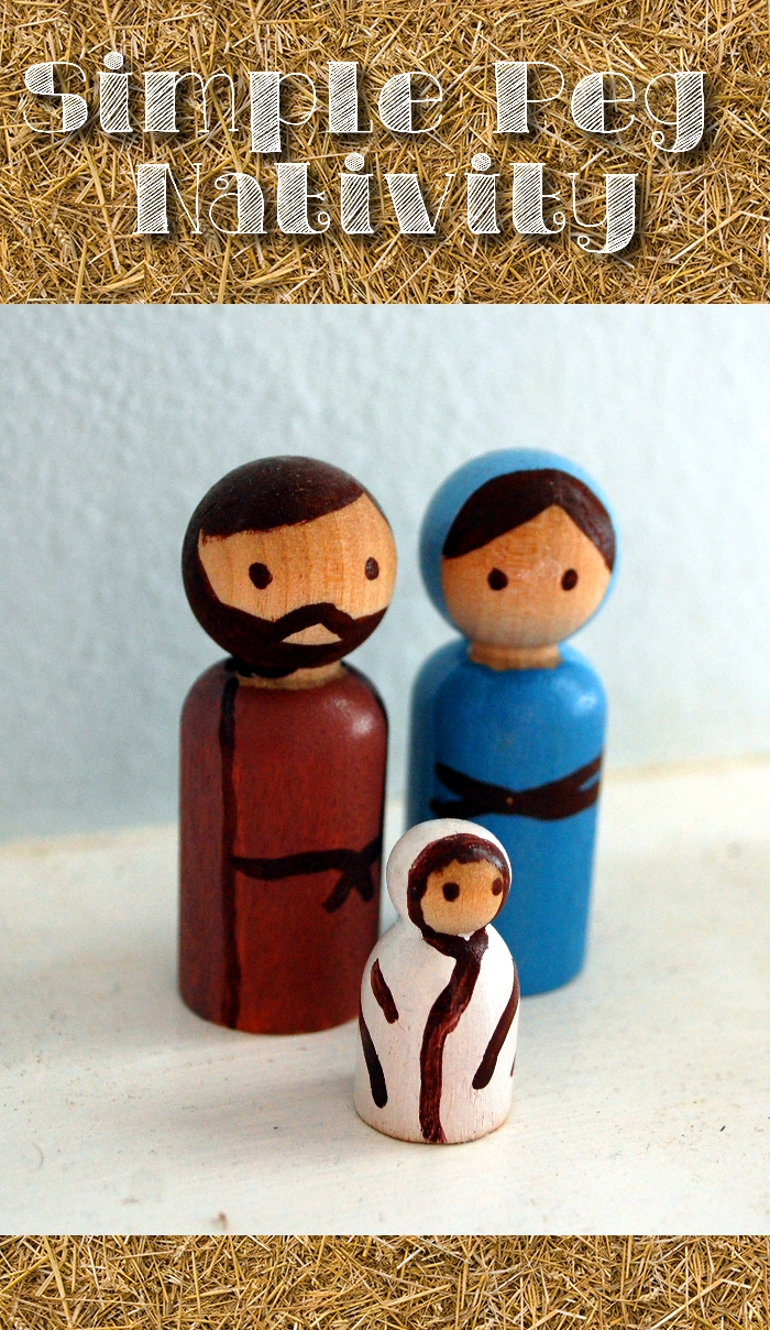 DIY Simple Peg Nativity