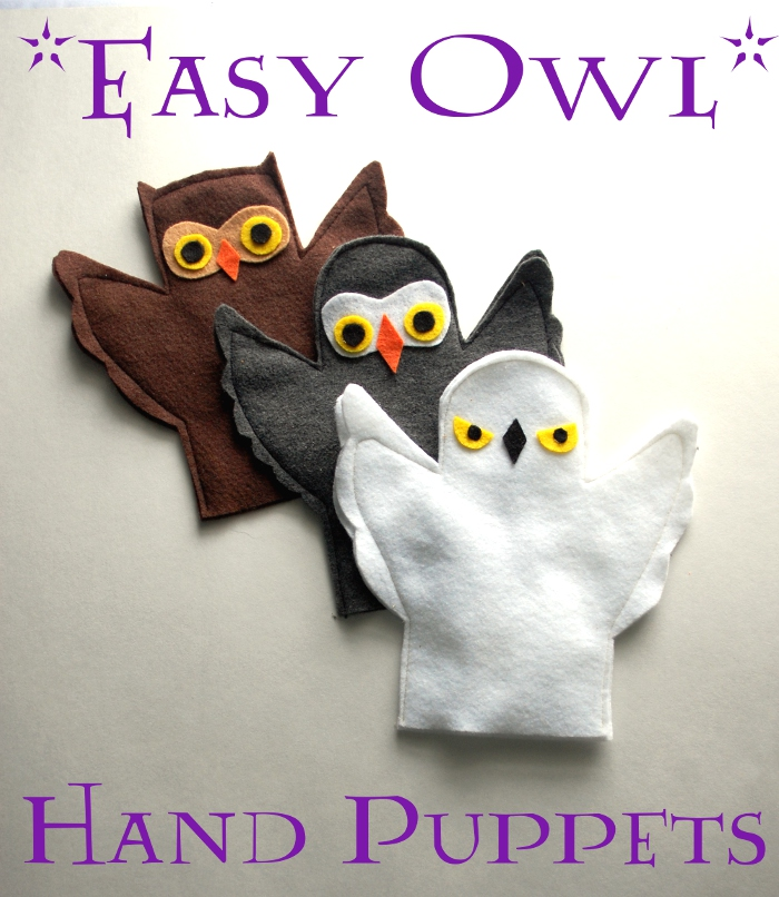 Easy Owl Hand Puppets
