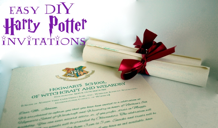 Easy DIY Harry Potter Invitations