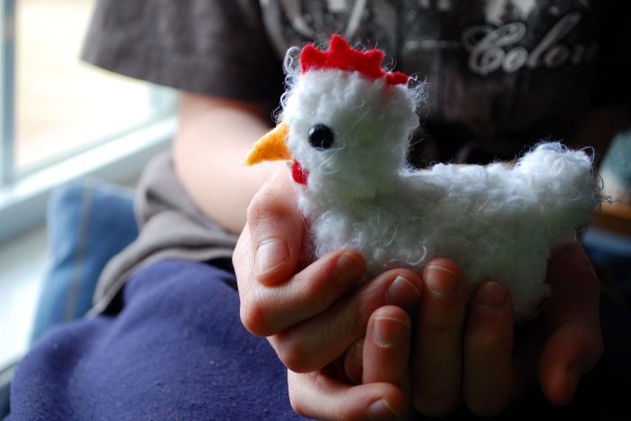 Pocket Chicken - free crochet pattern by Melissa Mall